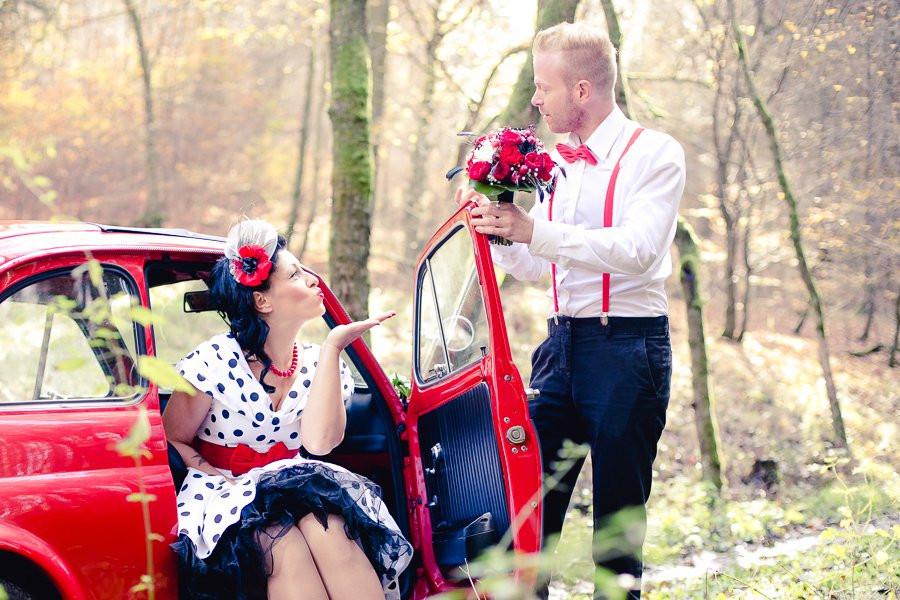 Rockabilly Männer Hochzeit  Den Geist der 50er auf Rockabilly Hochzeit spüren