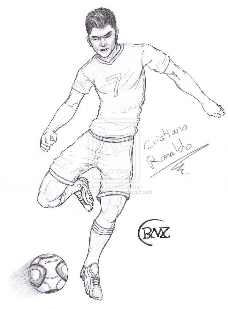 Ronaldo Ausmalbilder  christiano ronaldo