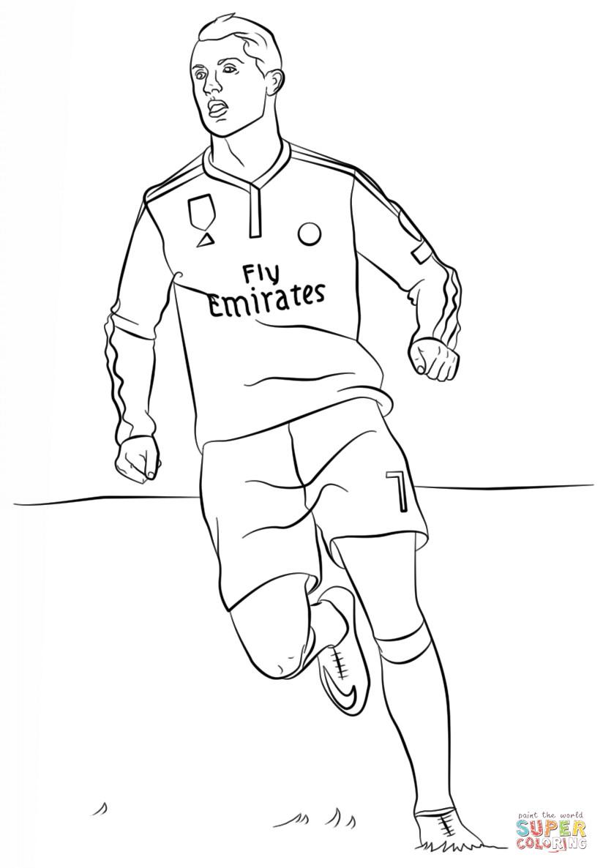 Ronaldo Ausmalbilder  Ausmalbild Cristiano Ronaldo