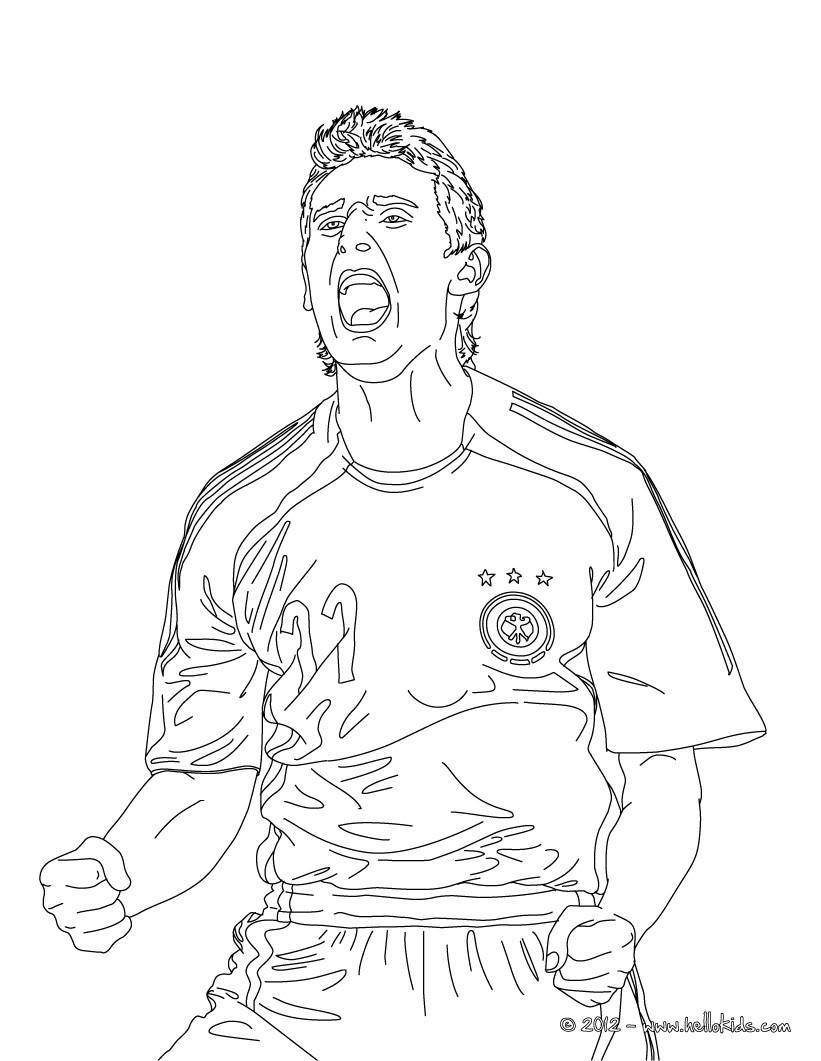 Ronaldo Ausmalbilder  Miroslav klose zum ausmalen zum ausmalen de hellokids