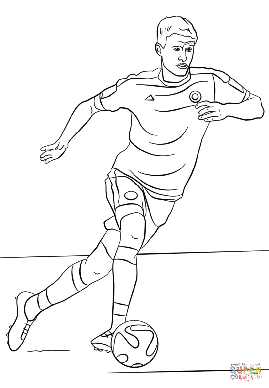 Ronaldo Ausmalbilder  Ausmalbild Thomas Muller