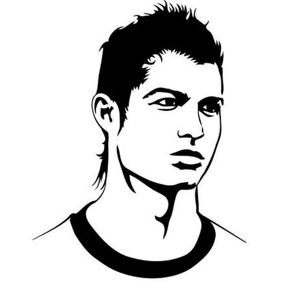 Ronaldo Ausmalbilder  Dibujos de jugadores de fútbol famosos para pintar Messi