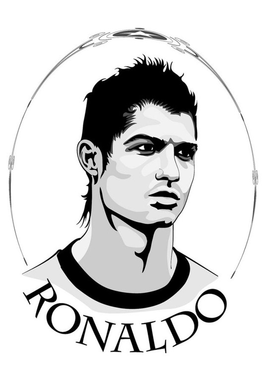 Ronaldo Ausmalbilder  Malvorlage Ronaldo