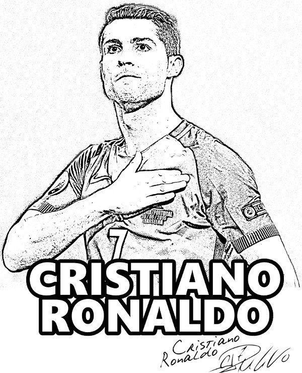 Ronaldo Ausmalbilder  Cristiano Ronaldo Real Madrid player Cr7 Ronaldo