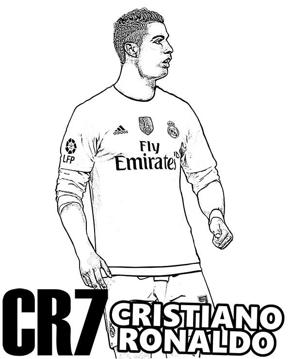Ronaldo Ausmalbilder  cristiano ronaldo kolorowanka1 – Kolorowanki do druku E