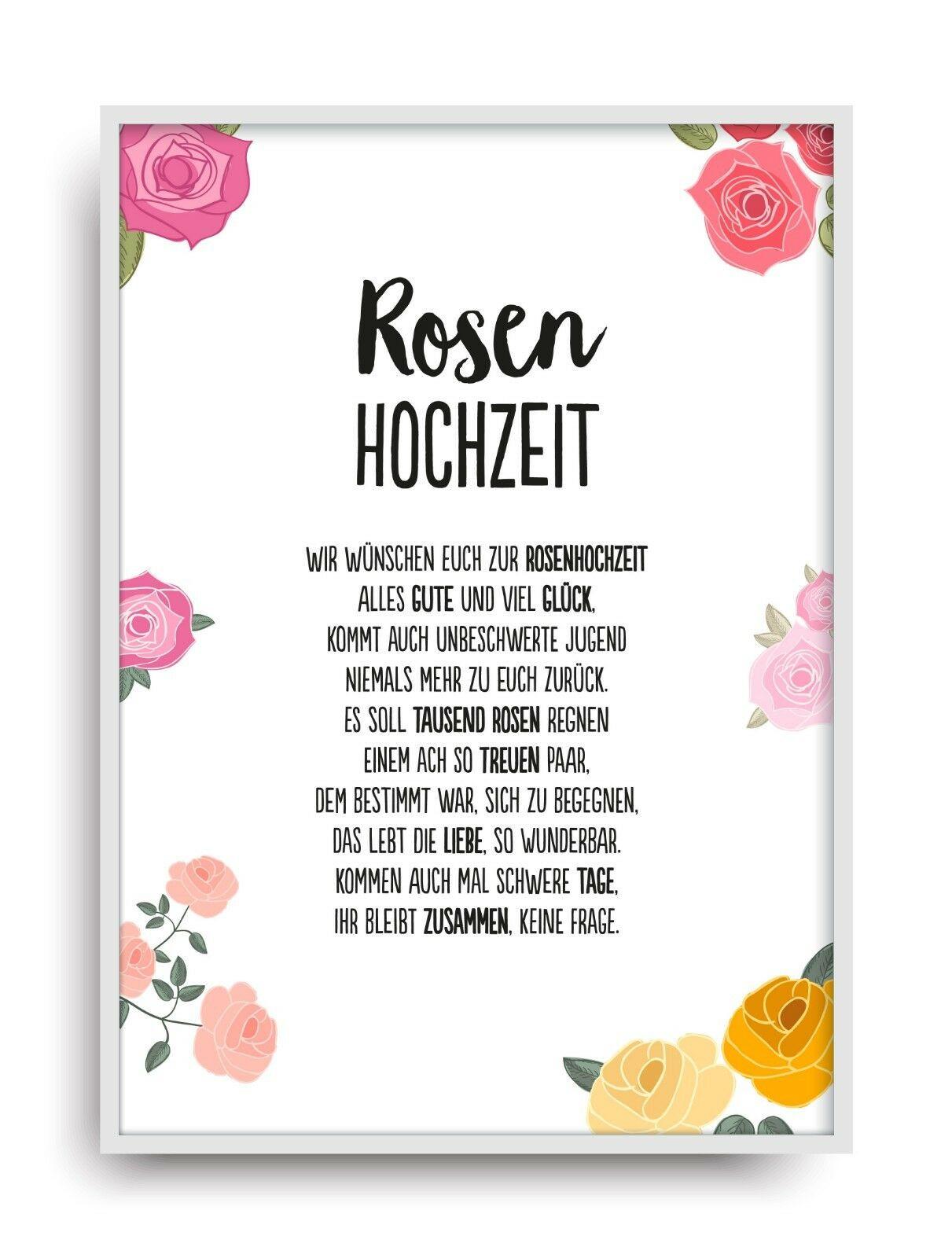 Rosenhochzeit Geschenke  Rosenhochzeit Mehr als 20 Angebote Fotos Preise