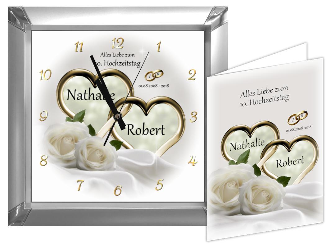 Rosenhochzeit Geschenke  Rosenhochzeit Geschenk zum 10 Hochzeitstag Eckige