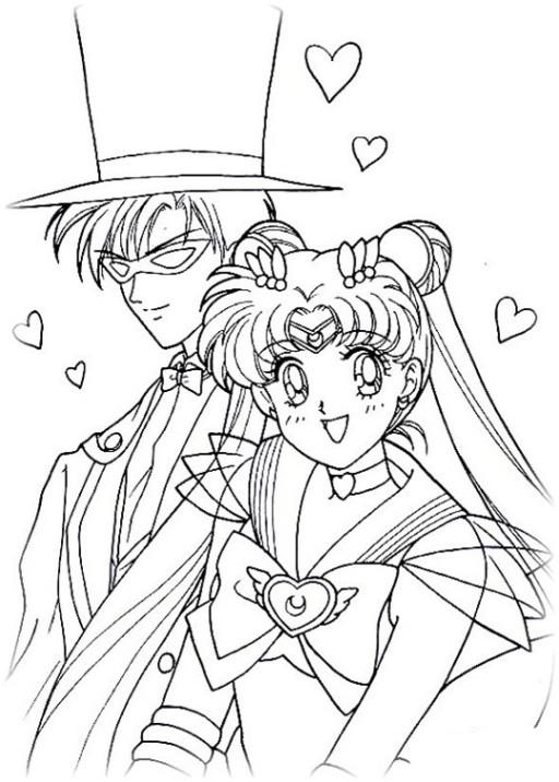 Sailor Moon Malvorlagen  Vorlagen zum Ausmalen Malvorlagen Sailor Moon Ausmalbilder 2