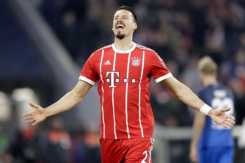 Sandro Wagner Hochzeit  Bayern recover to crush Hoffenheim 5 2 keep 16 point lead