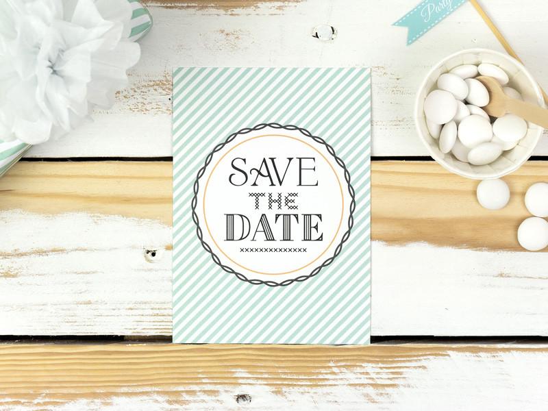 Save The Date Karten Hochzeit  Save the Date Karten Minty Bonbon Villa Hochzeitsshop