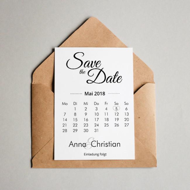 """Save The Date Karten Hochzeit  Save the Date Karten """"Romantik"""" kaufen"""