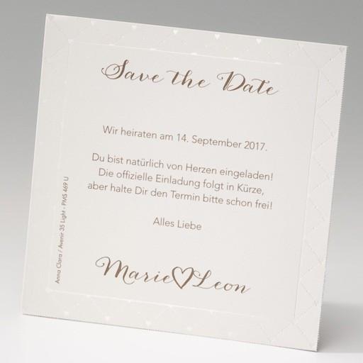 Save The Date Karten Hochzeit  Hochzeit Save the date Karte im 4er Bogen Diagonales