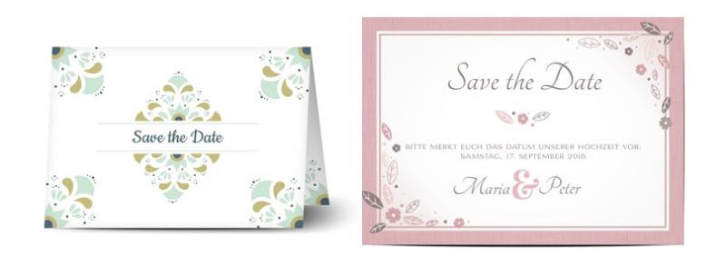 Save The Date Karten Hochzeit  Hochzeitssprüche für Save the Date Karten