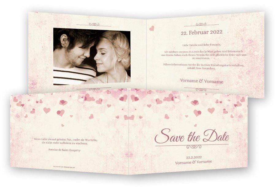 Save The Date Karten Hochzeit  Hochzeit Save the Date Karten Vorlage