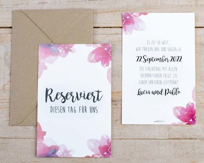Save The Date Karten Hochzeit  Save the Date Karten zur Hochzeit