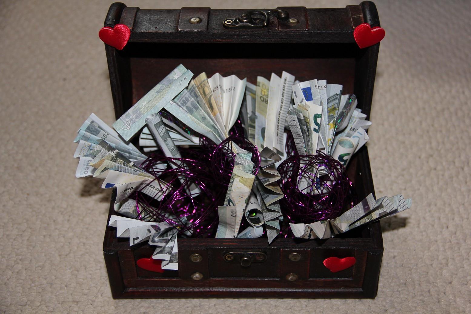 Schatzkiste Hochzeit  Geldgeschenke kreativ verpacken – Hochzeitsgeschenke