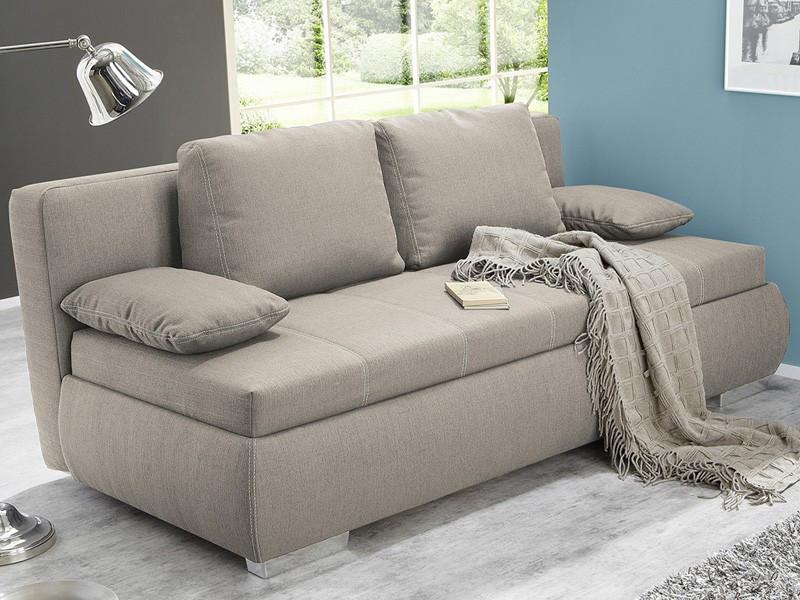 Schlafsofa Boxspring  Dauerschläfer Schlafsofa Merlin 210x112cm beige Sofa