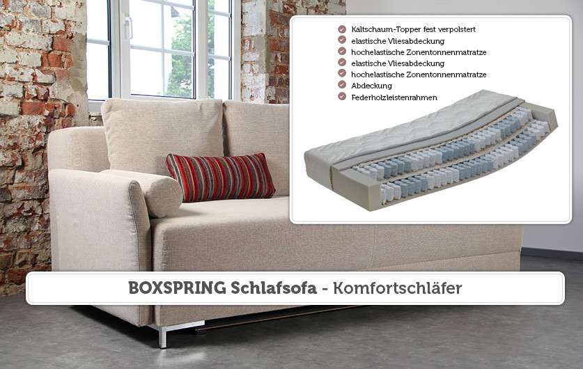 Schlafsofa Boxspring  BOXSPRING Schlafsofa