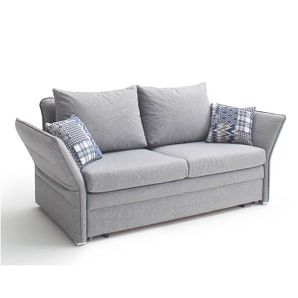 Schlafsofa Grau  Schlafsofa als 2 Sitzer in Grau mit abklappbaren Armlehnen