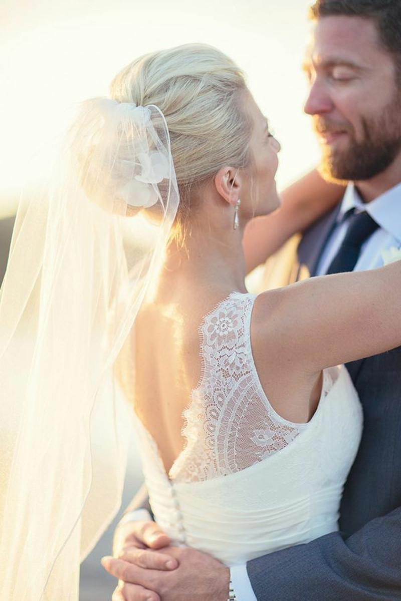 Schleier Hochzeit  Brautfrisuren offen halboffen oder hochgesteckt 100