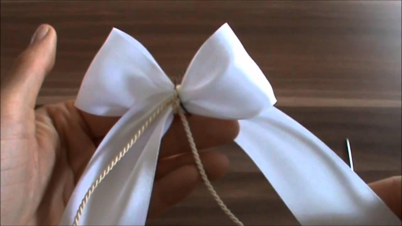 Schleifen Für Auto Hochzeit  Autoschleifen basteln youtube original4