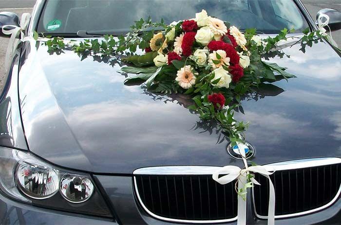 Schmuck Für Hochzeit  Bildergebnis für blumenschmuck auto mit hortensien