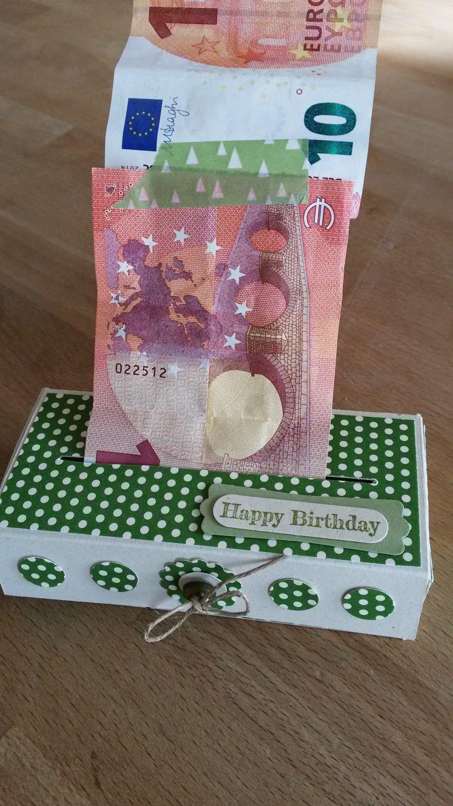 Schöne Geschenke  Schöne Papeterie Kleine Geldbox mit Anleitung