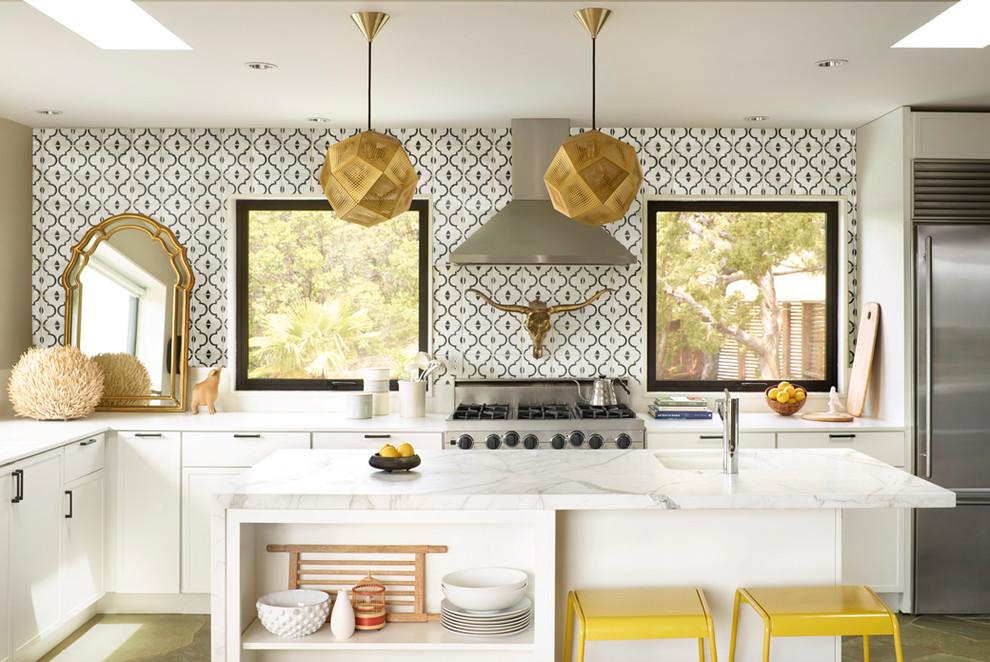 Schöne Küchen  Schöne Küchen in einem eklektischen Stil