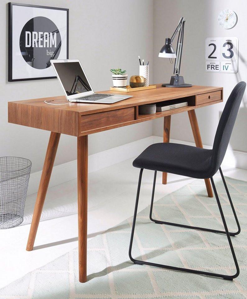 Schreibtisch Design  andas Schreibtisch Classic Nordic Design in walnut