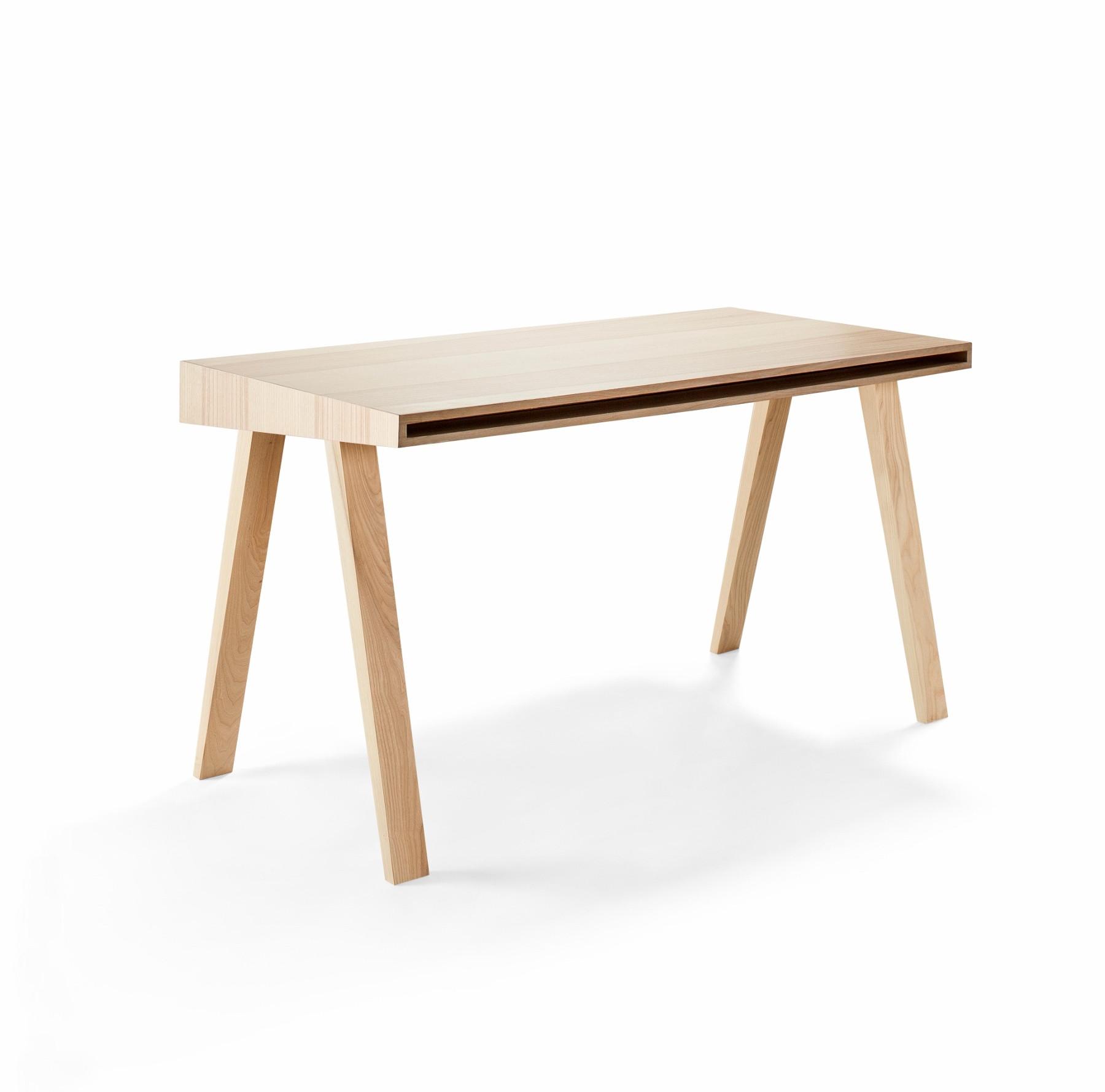 Schreibtisch Design  Moderner Designer Schreibtisch 4 9 aus Massivholz EMKO
