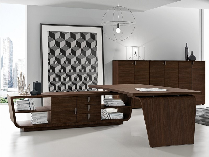 Schreibtisch Design  stilvoller Design Schreibtisch Larus Tischgestell mit
