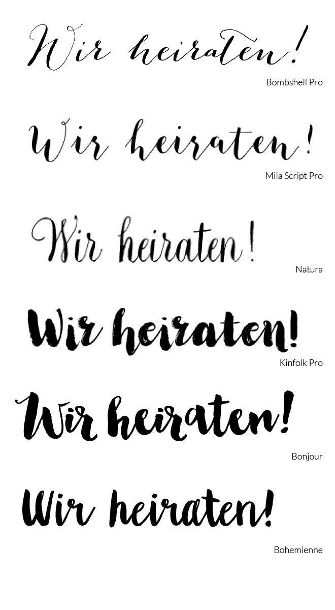 Schriftarten Hochzeit  Die besten 25 Hochzeit schriftarten Ideen auf Pinterest