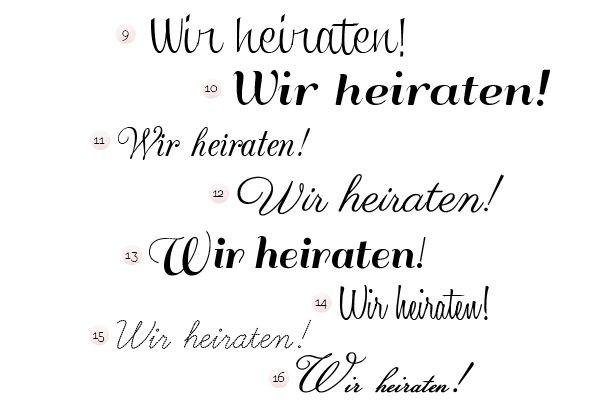 Schriftarten Hochzeit  Schriftarten für Hochzeitseinladung Fräulein K