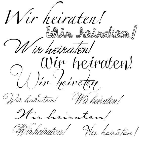 Schriftarten Hochzeit  Welche Schriftarten passen bei Hochzeitseinladungen
