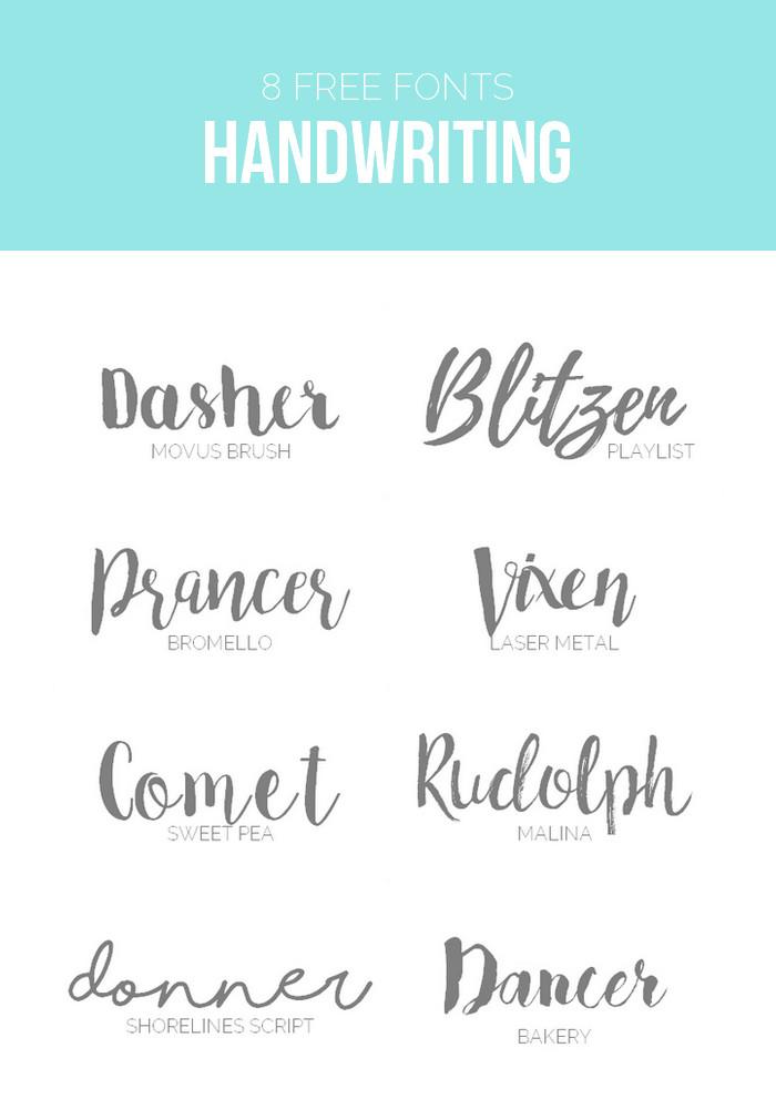 Schriftarten Hochzeit  8 kostenlose Schriftarten Brush & Script