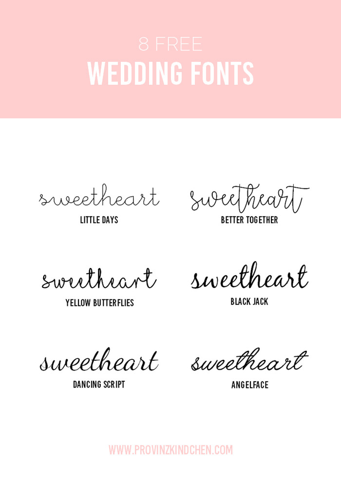 Schriftarten Hochzeit  6 Free Wedding Fonts 8 kreative line Ressourcen für
