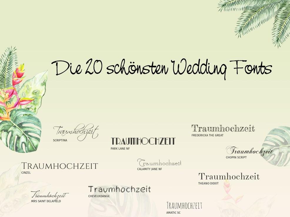 Schriftarten Hochzeit  Die 20 schönsten Wedding Fonts für Eure Hochzeitskarten