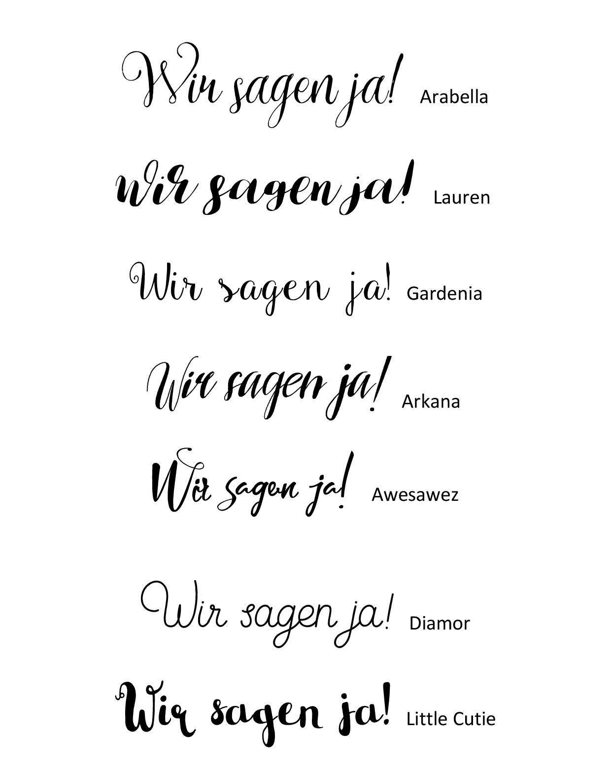 Schriftarten Hochzeit  Diese schicken Schriftarten passen sehr gut zur Hochzeit
