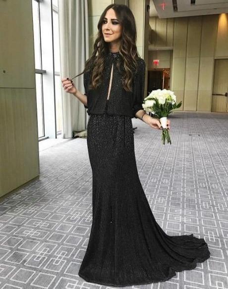 Schwarzes Kleid Hochzeit  Hochzeit gast schwarzes kleid