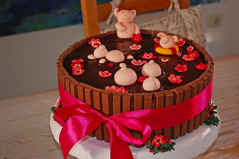 Schweine Kuchen  Torten Rezepte