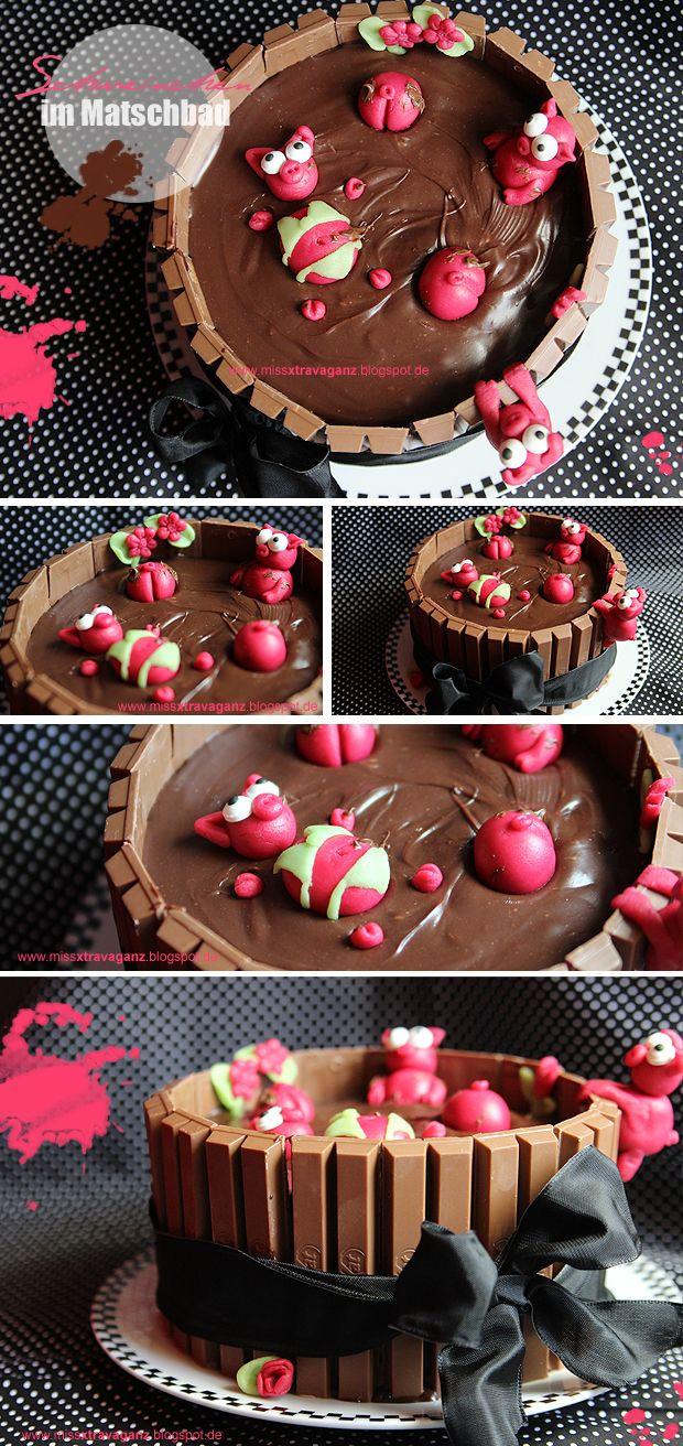 Schweine Kuchen  schweinchen im matsch kuchen schweinchen im matschbad