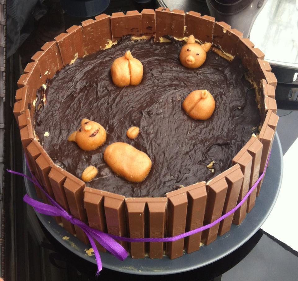 Schweine Kuchen  Leider Lecker Schweine im Schlamm Kuchen