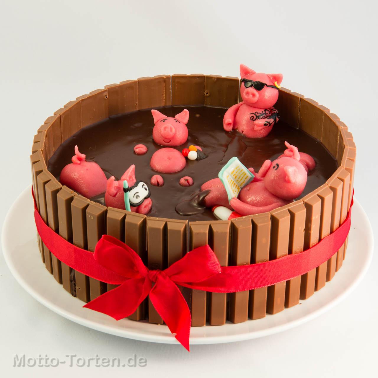 Schweine Kuchen  Saustarke Geburtstagstorte