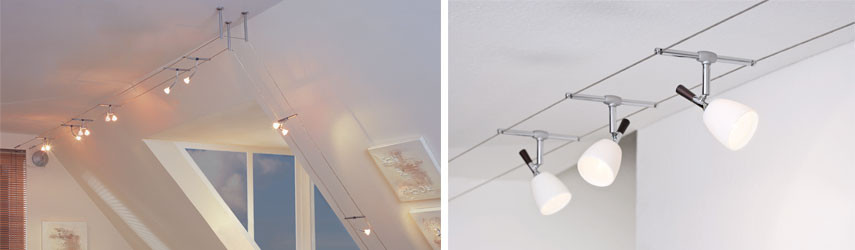Seilsysteme Beleuchtung  Seilsysteme Lichtsysteme