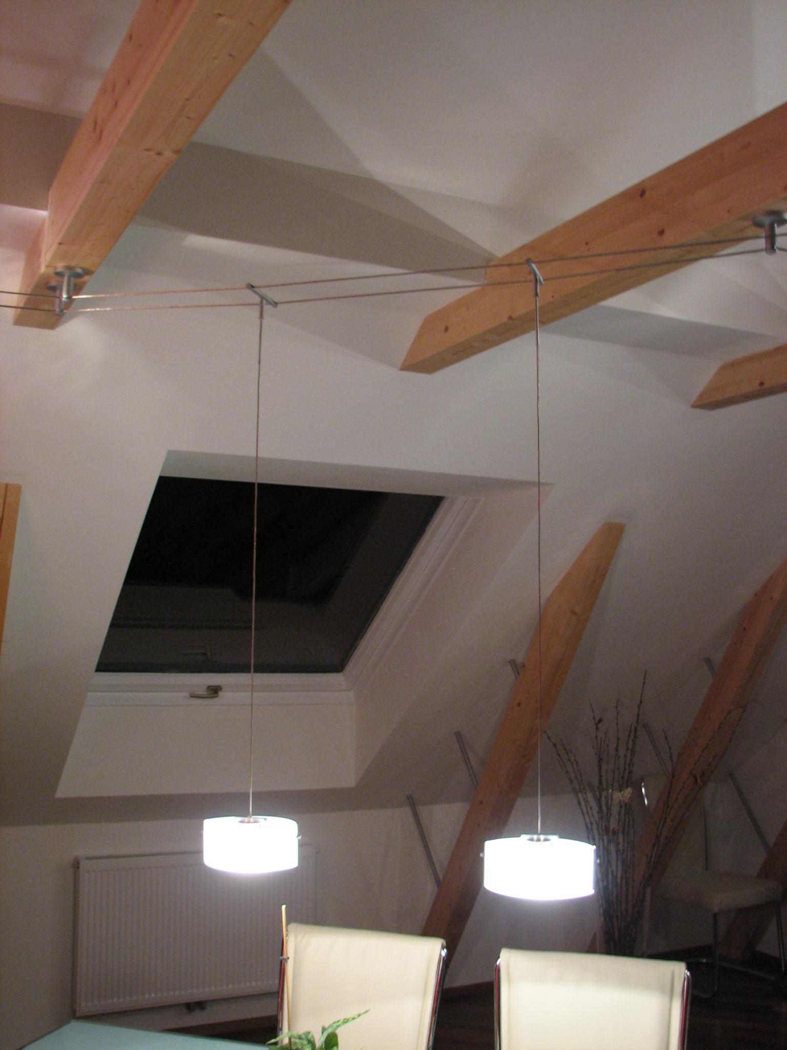 Seilsysteme Beleuchtung  Schienen und Seilsysteme