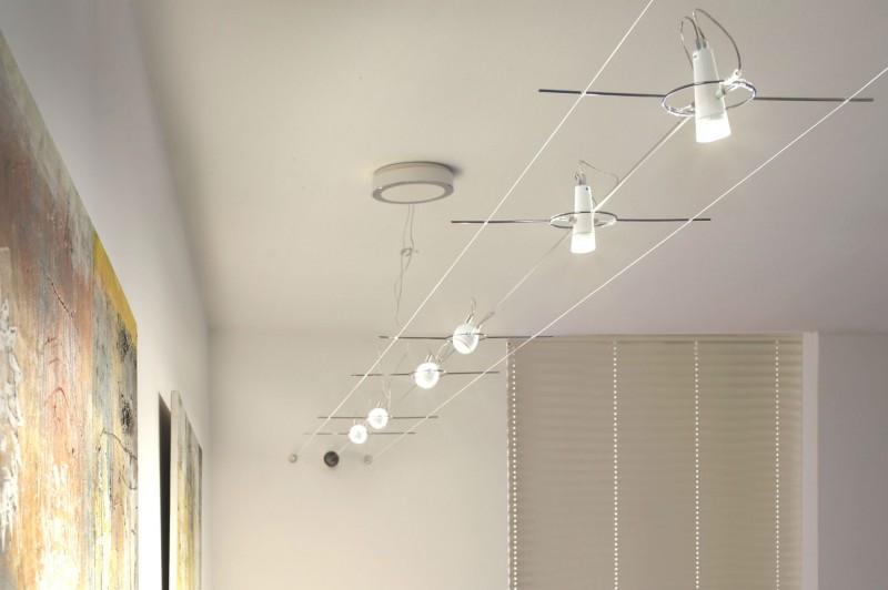 Seilsysteme Beleuchtung  Seilsystem Design in LED und Halogen