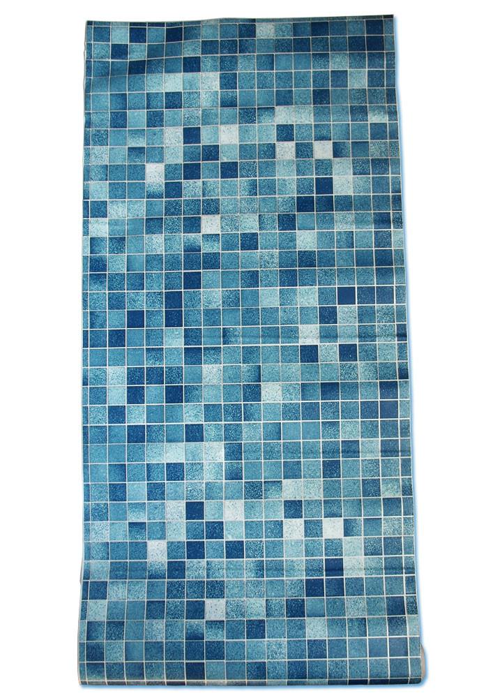 Selbstklebende Fliesen  Tapete selbstklebend Küchentapete Mosaik Fliesen blau