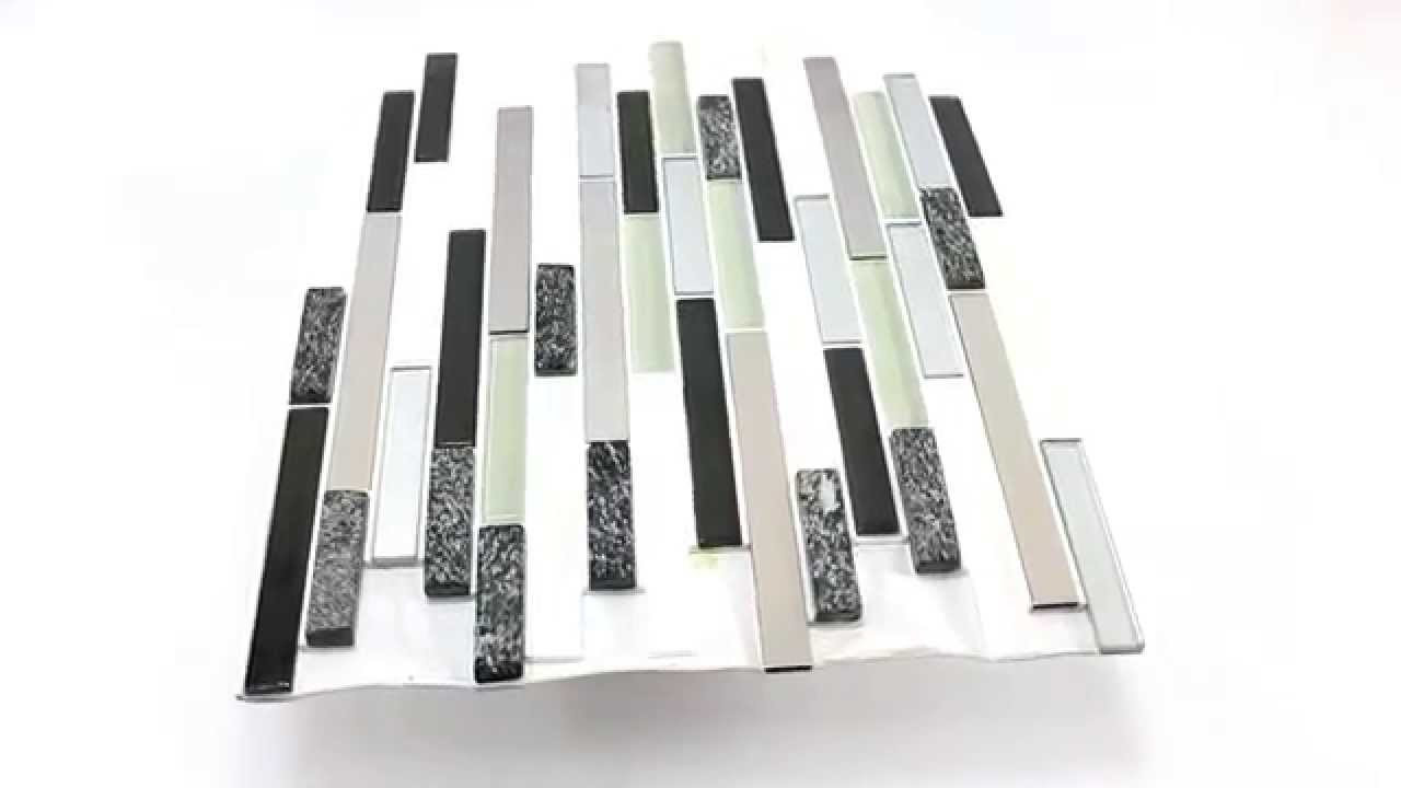 Selbstklebende Fliesen  Gebrauchsfertiges Selbstklebende Mosaik Fliesen Grau