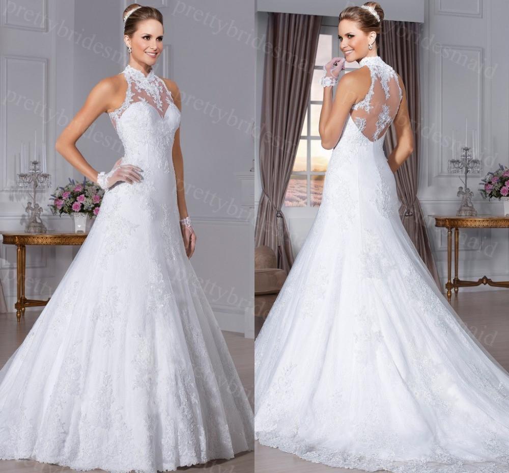 Sexy Hochzeitskleid  y hochzeitskleid Hi neck Vestidos de novia 2015 wedding
