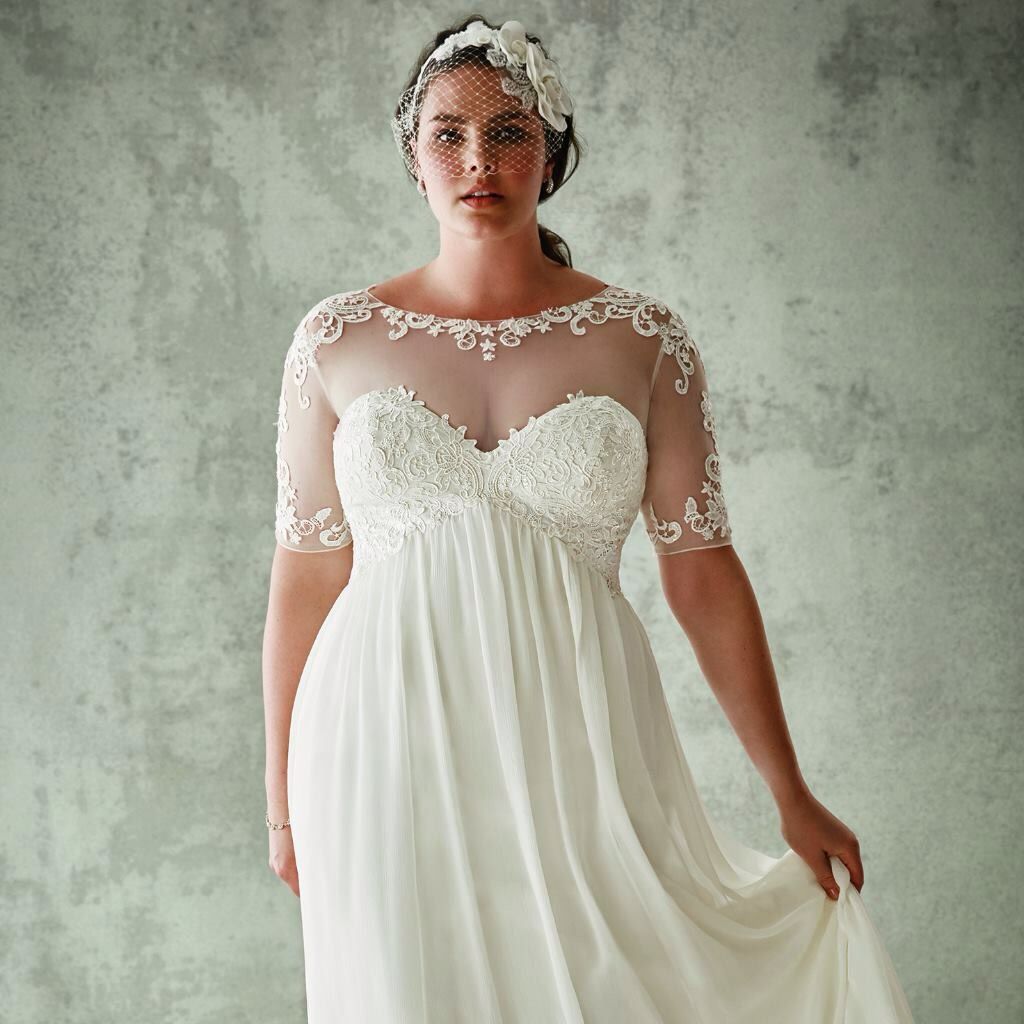 Sexy Hochzeitskleid  Hochzeitskleid mollig